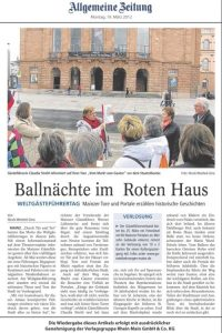Stadtführung Mainz - Ballnächte im Roten Haus